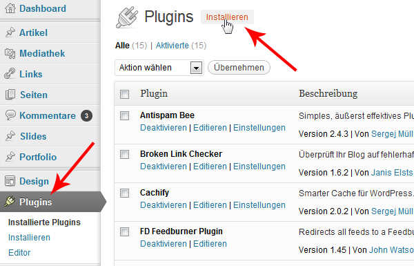 wordpress-plugin-installieren