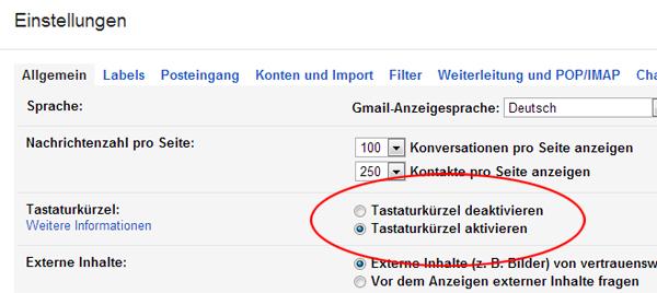 gmail-shortcuts-aktivieren