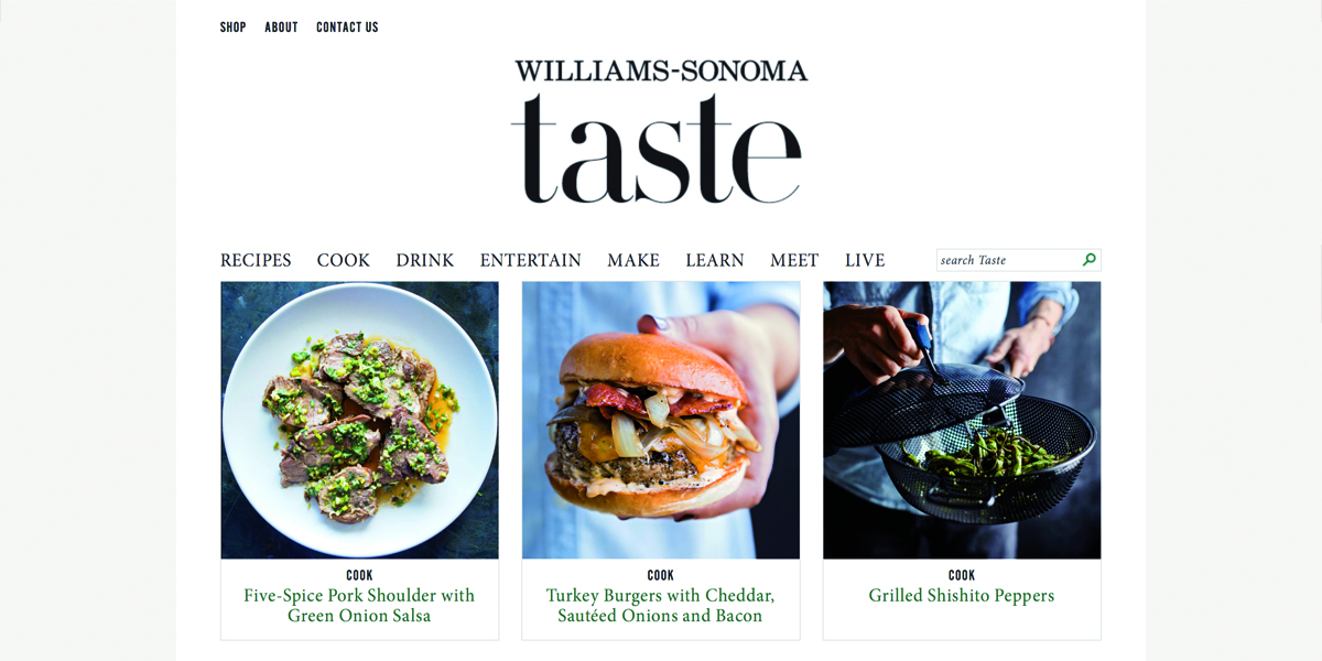 content-hub-beispiel-williams-sonoma-taste