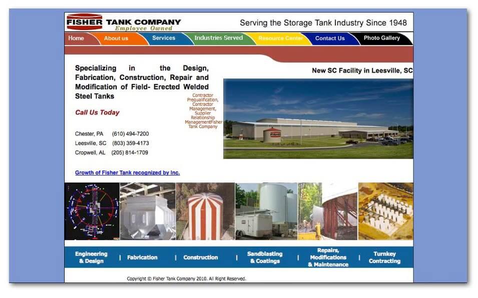 fisher tank alte webseite