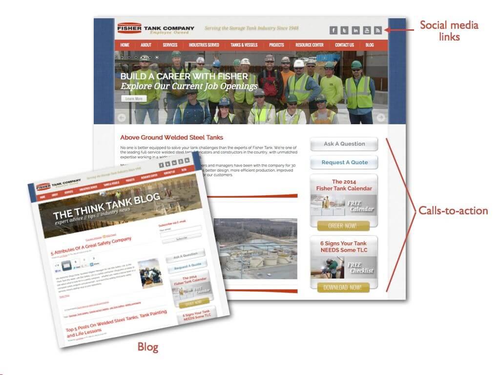 fisher tank neue webseite