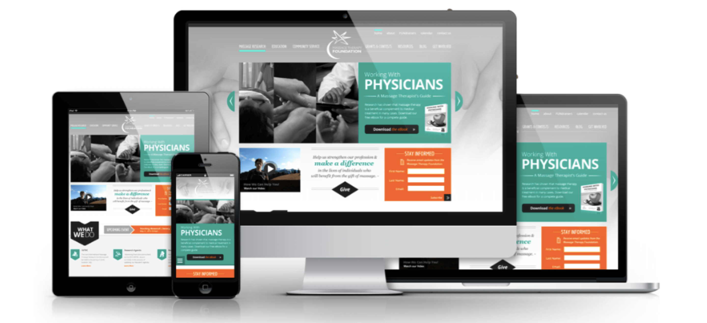 massage therapy foundation responsive webdesign