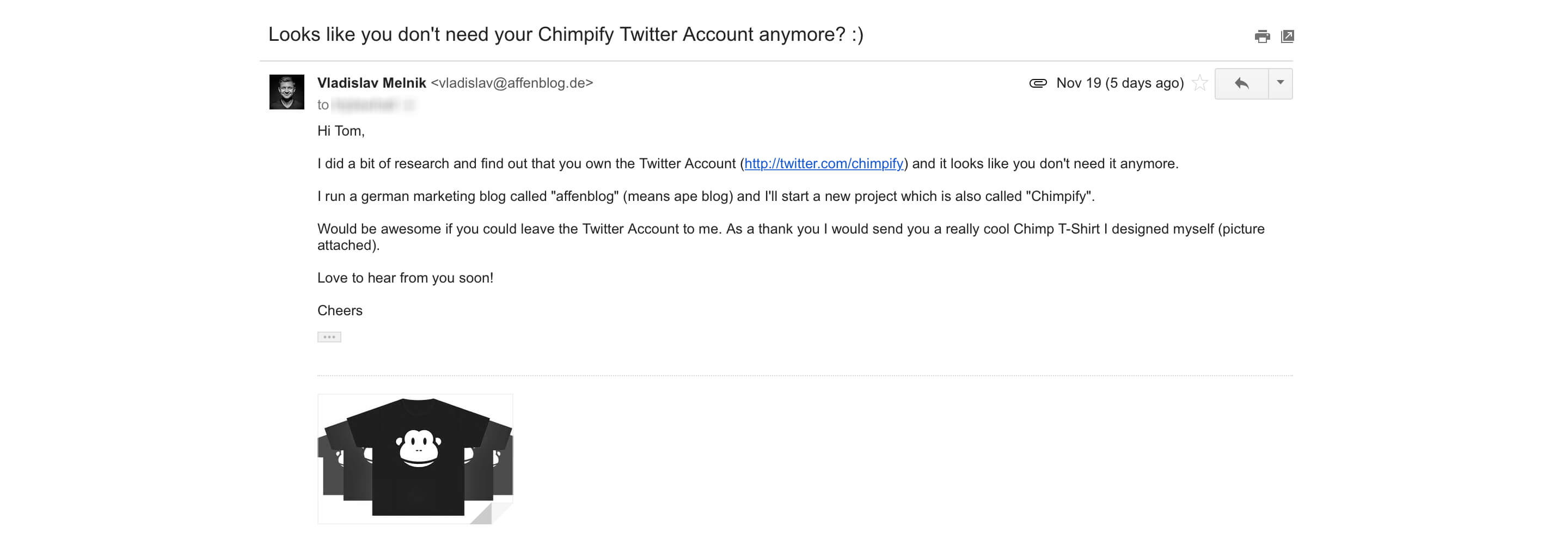 mail chimpify twitter account