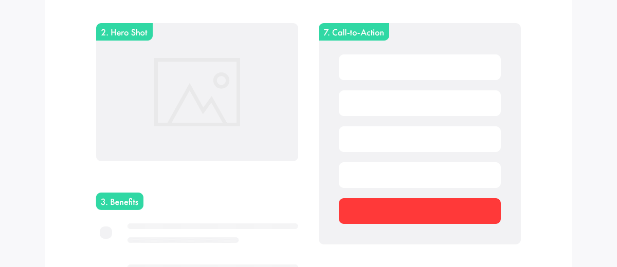 landing page elemente call to action