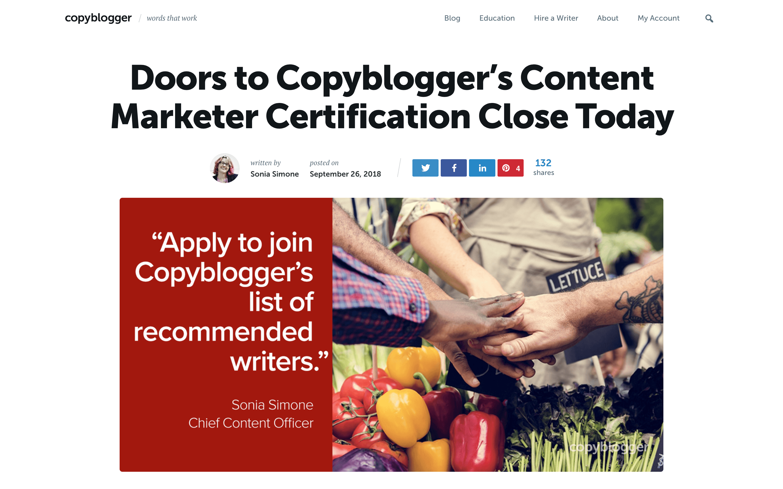 blog design copyblogger