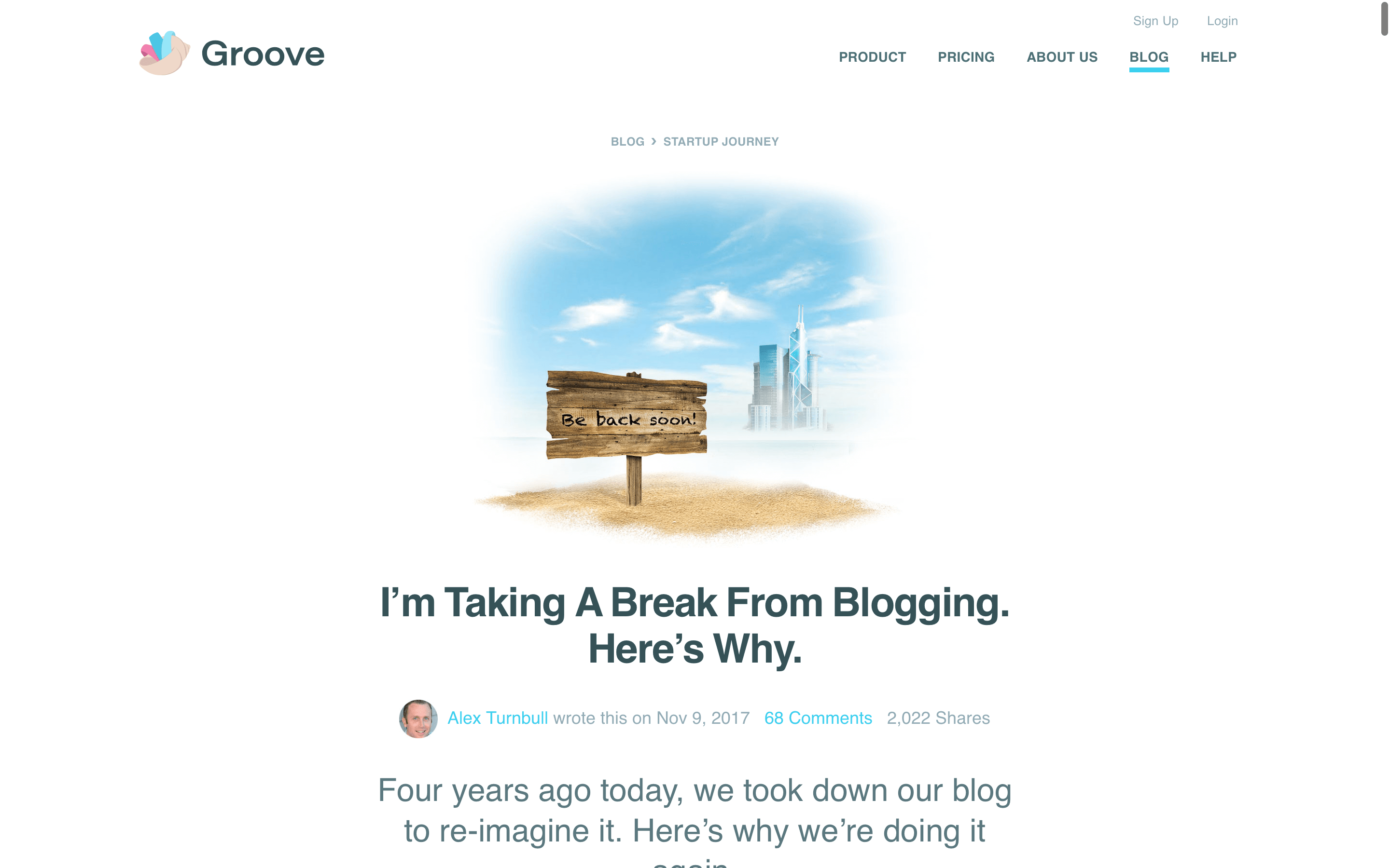 blog design groove