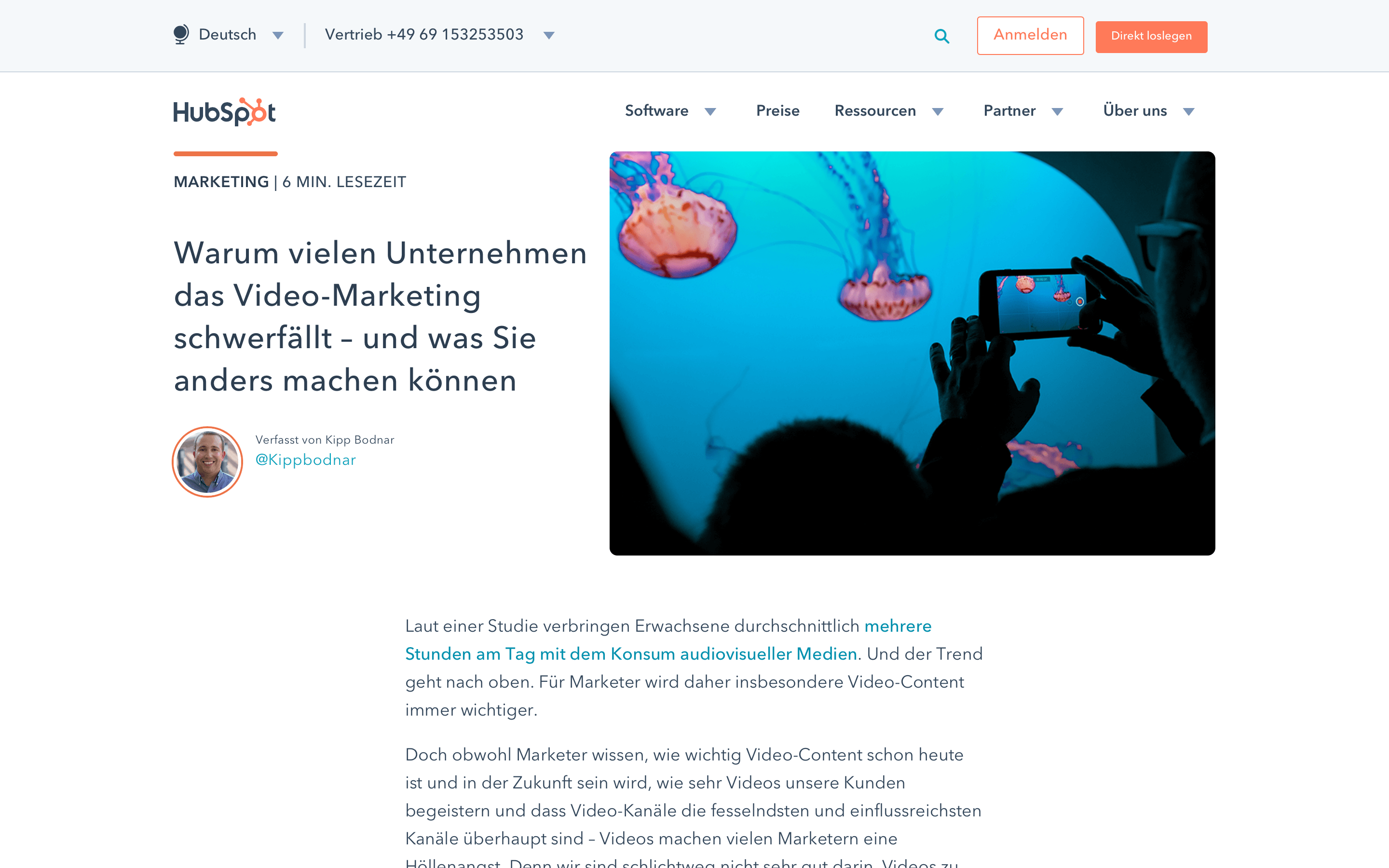 blog design hubspot