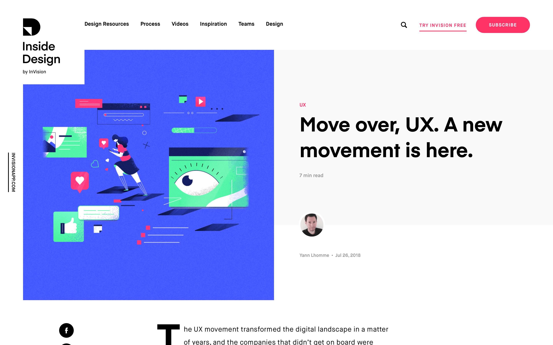 blog design invision