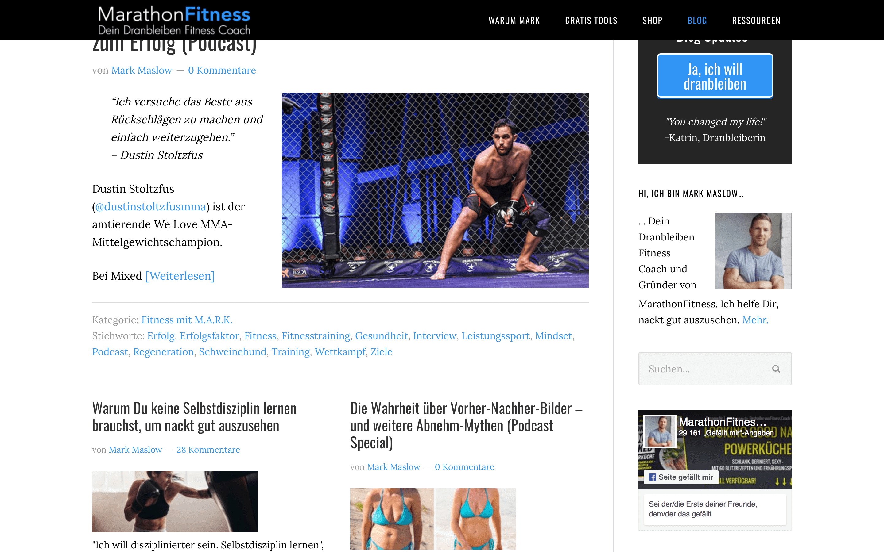 blog design marathonfitness