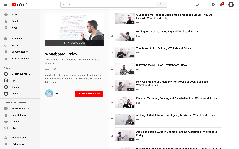 content hub video kanal