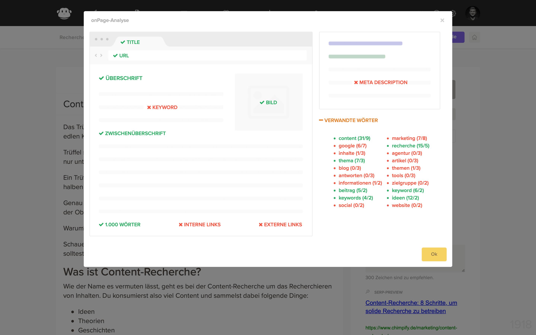 beitrag seo onpage analyse checkliste
