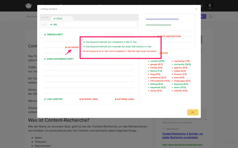 beitrag seo onpage checkliste mouseover