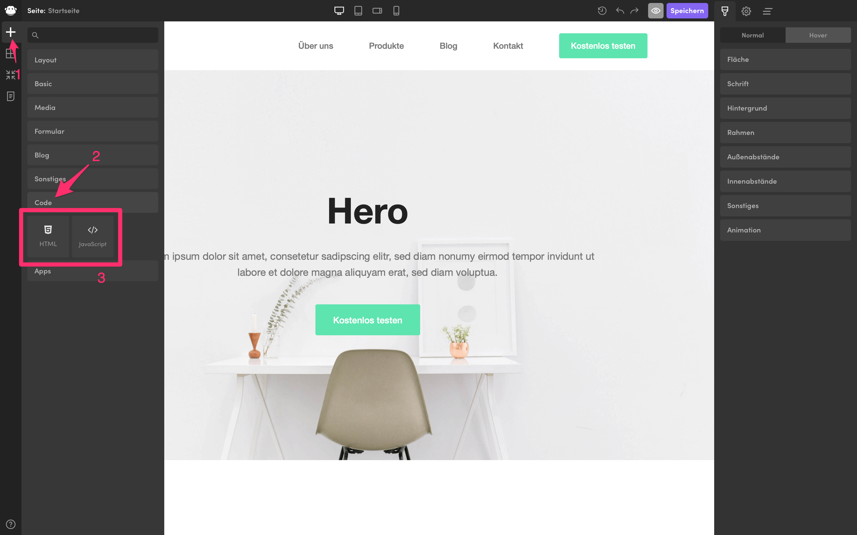 html javascript elemente