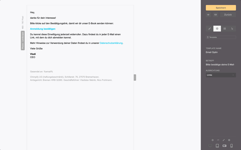 optin email link bestaetigen