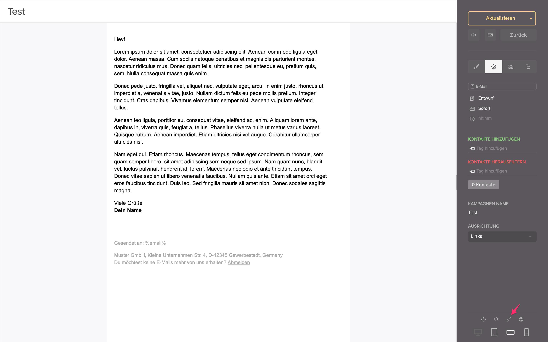 css bearbeiten email
