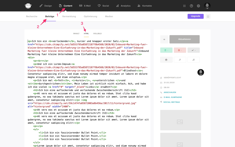 html bearbeiten beitrag