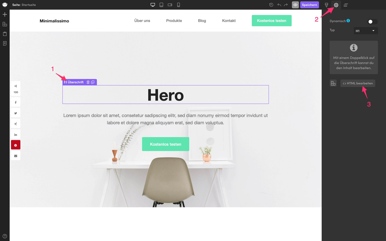html bearbeiten designer element