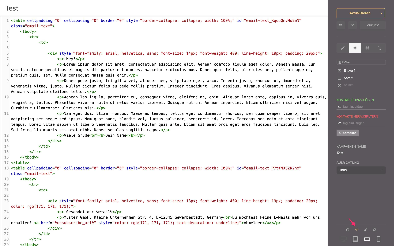 html bearbeiten email