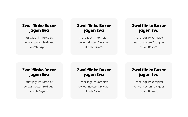grid kachel layout