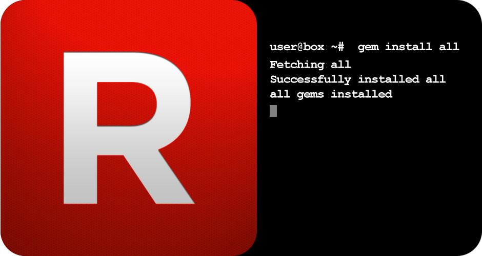 Liste von Ruby GEM's auf einen anderen Server übertragen