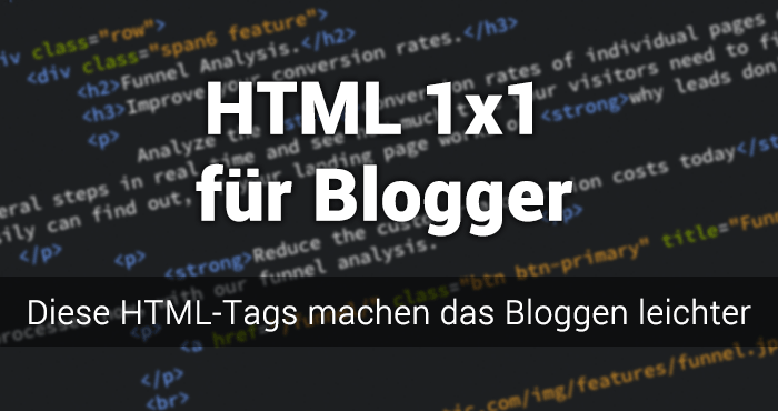 HTML Tutorial für Blogger
