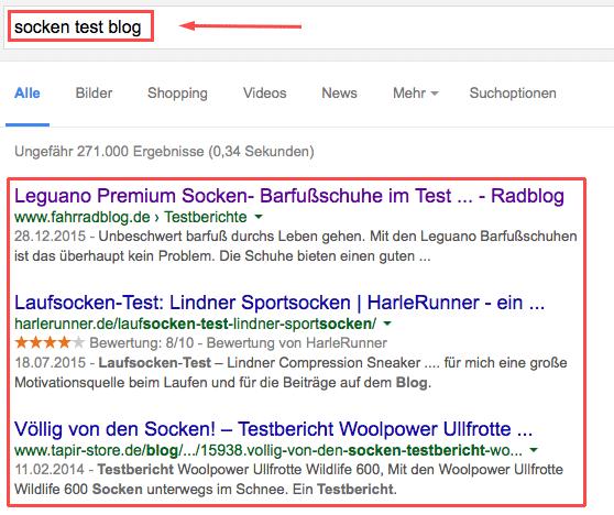 google-suche-blogs-socken-test