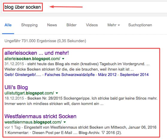 google-suche-blogs-socken