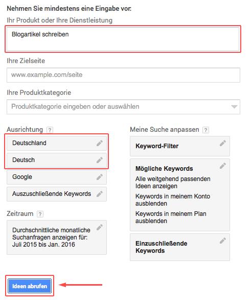 keyword-planner-formular
