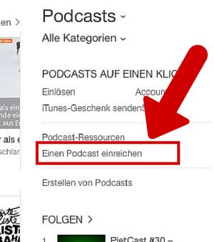 Einen Podcast einreichen
