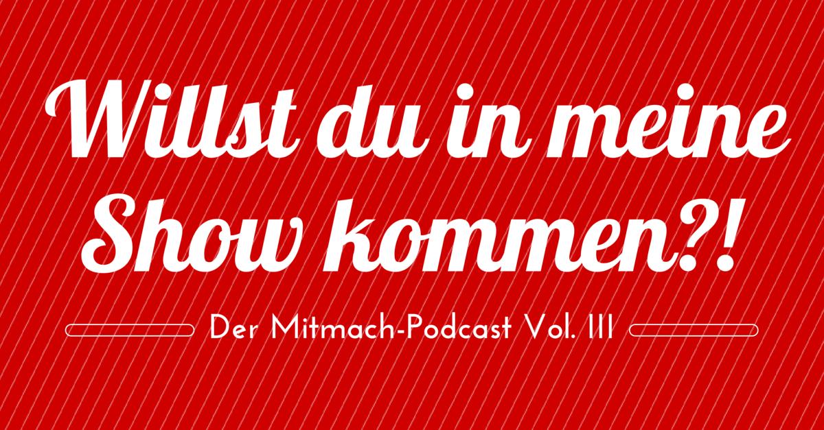 [Mitmach-Podcast] Komm in meine Show und zeig uns, welchen Podcast du dringend empfehlen willst.