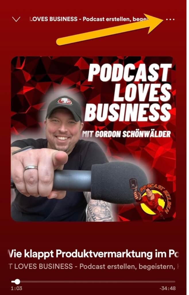 Podcast-Episoden aus Spotify in Facebook mit dem Miniplayer teilen 1