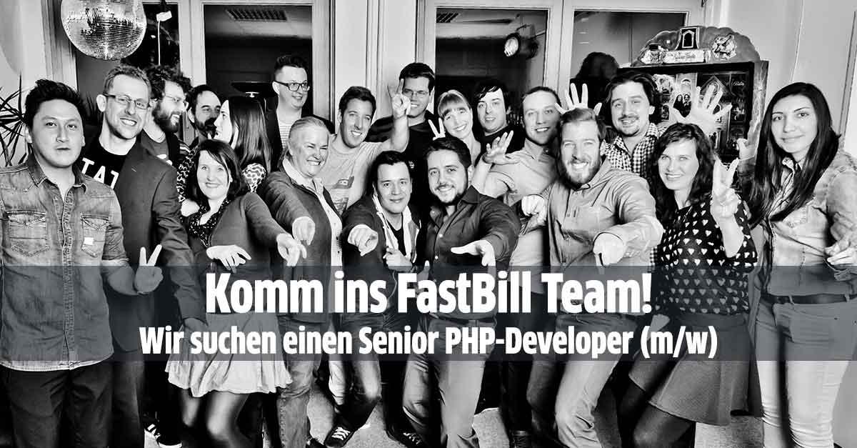 Komm ins FastBill Team – Wir suchen einen Senior PHP-Developer (m/w)