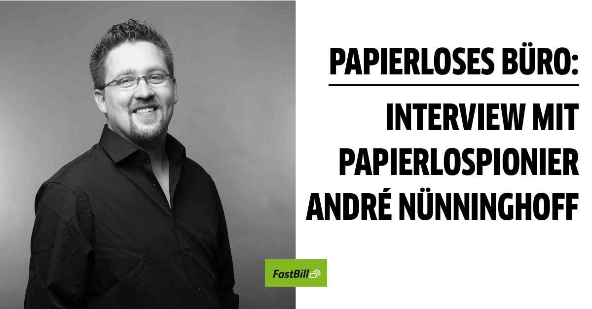 Papierloses Büro: Interview mit Papierlospionier André Nünninghoff