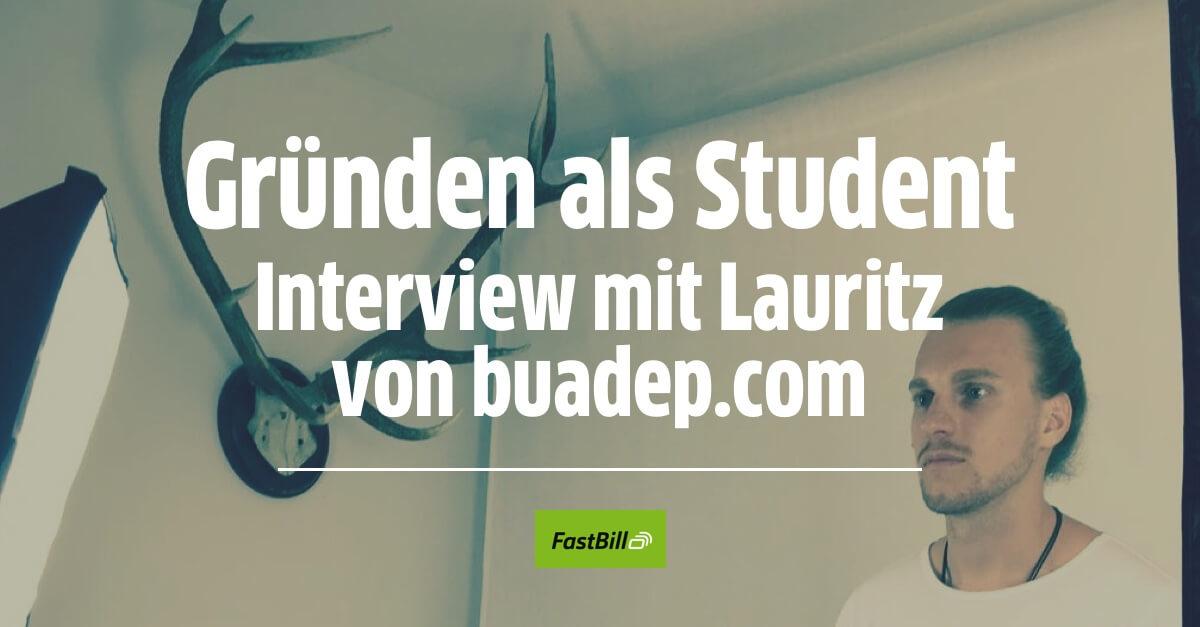 Gründen als Student: Interview mit Lauritz von buadep.com