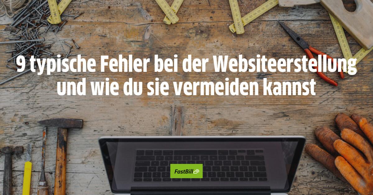 9 typische Fehler bei der Websiteerstellung und wie du sie vermeiden kannst