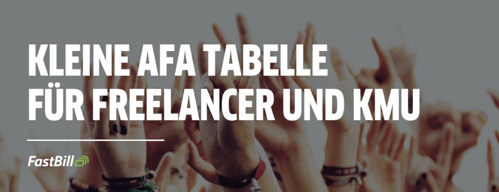 afa tabelle freelancer kmu