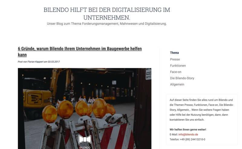 Bilendo - Finanzblog rund um Mahnungen und Inkasso