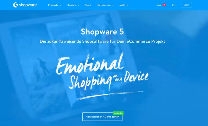 Shopware Online Shop Software