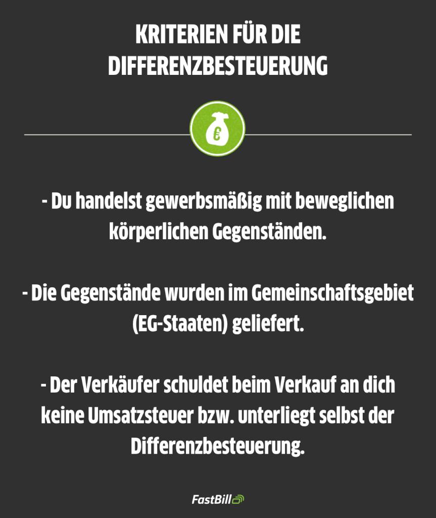 differenzbesteuerung §25a UStG