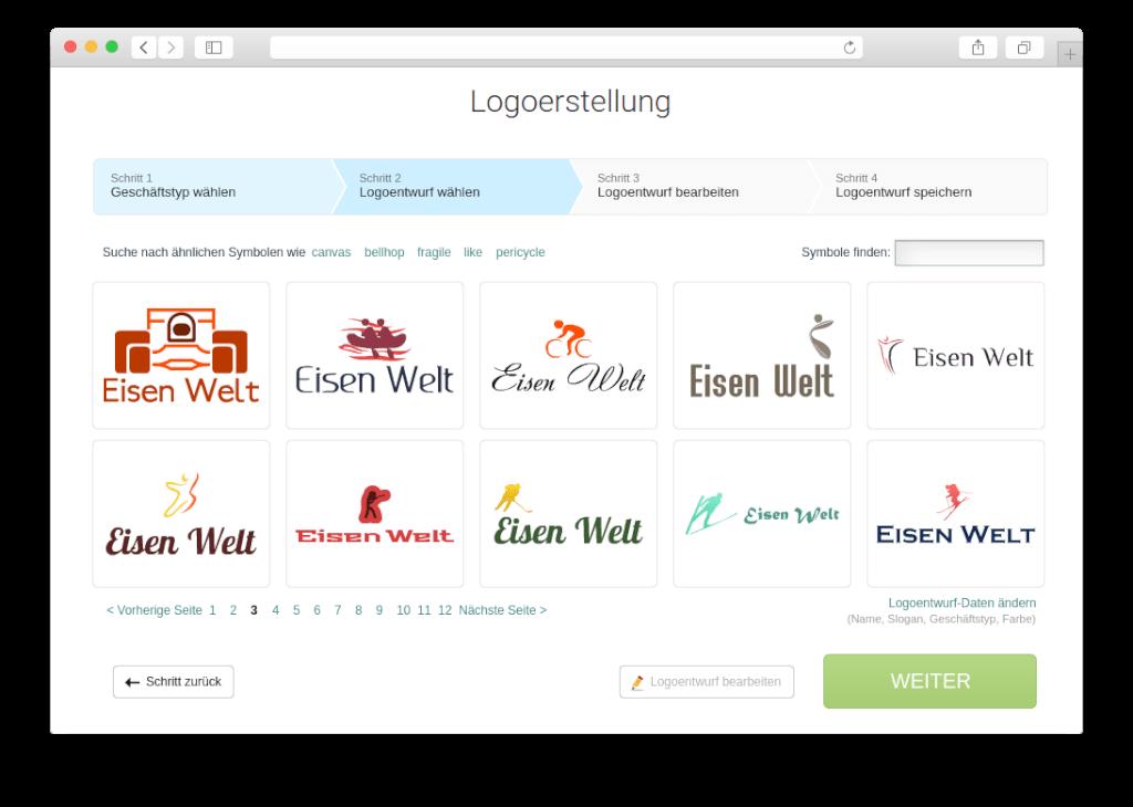 unternehmensidentitaet logoerstellung auswahl
