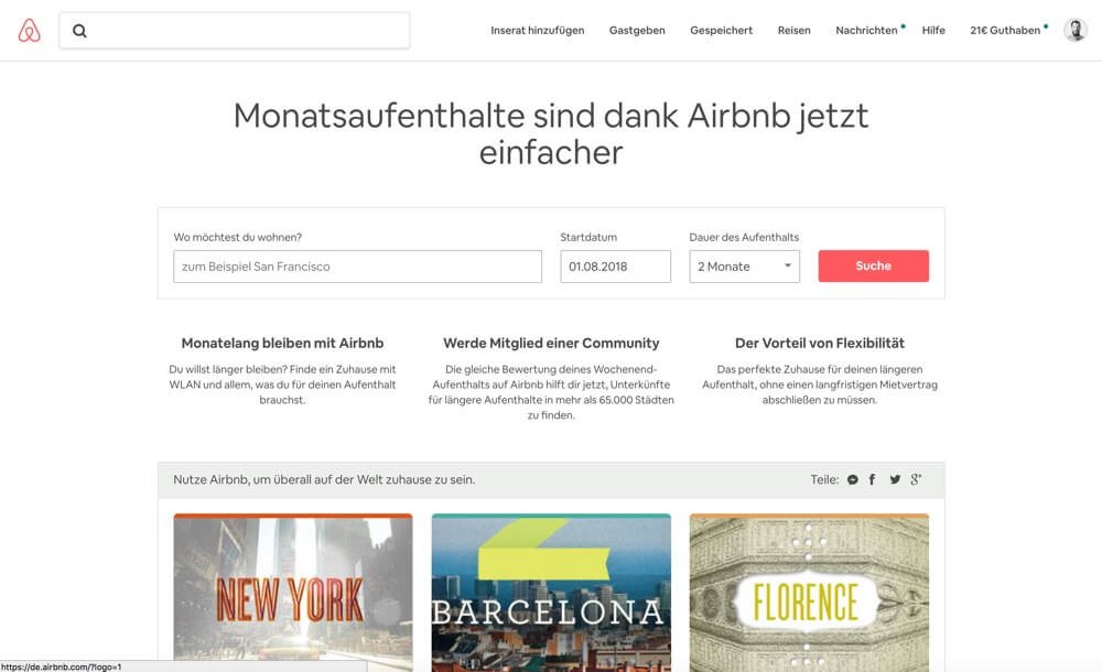 airbnb sublets