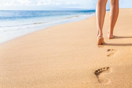 Für einen schönen Frühlingslook Ihrer Füße und Nägel