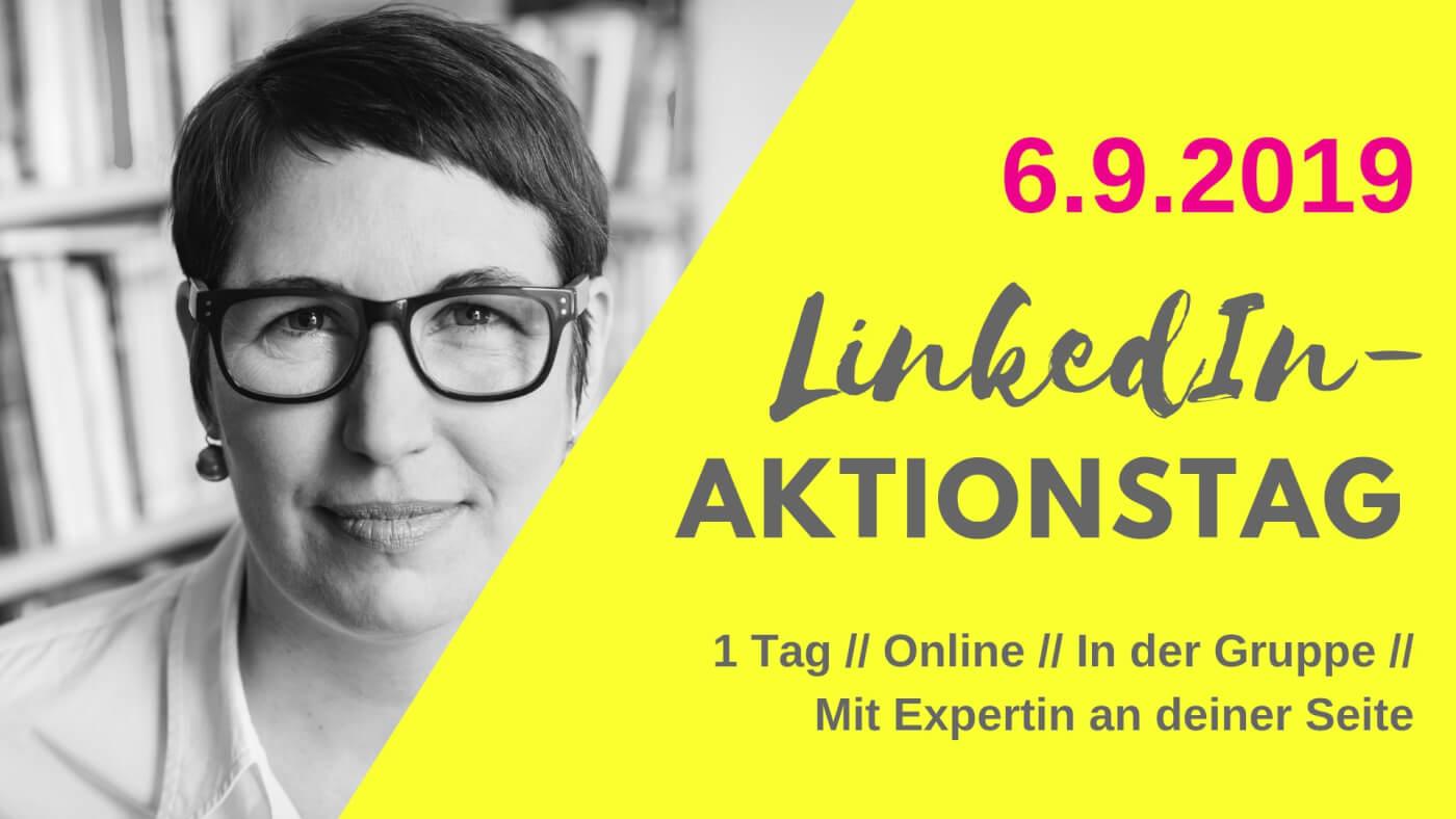 LinkedIn-Aktions-Tag: Dein LinkedIn-Kurs an einem Tag!