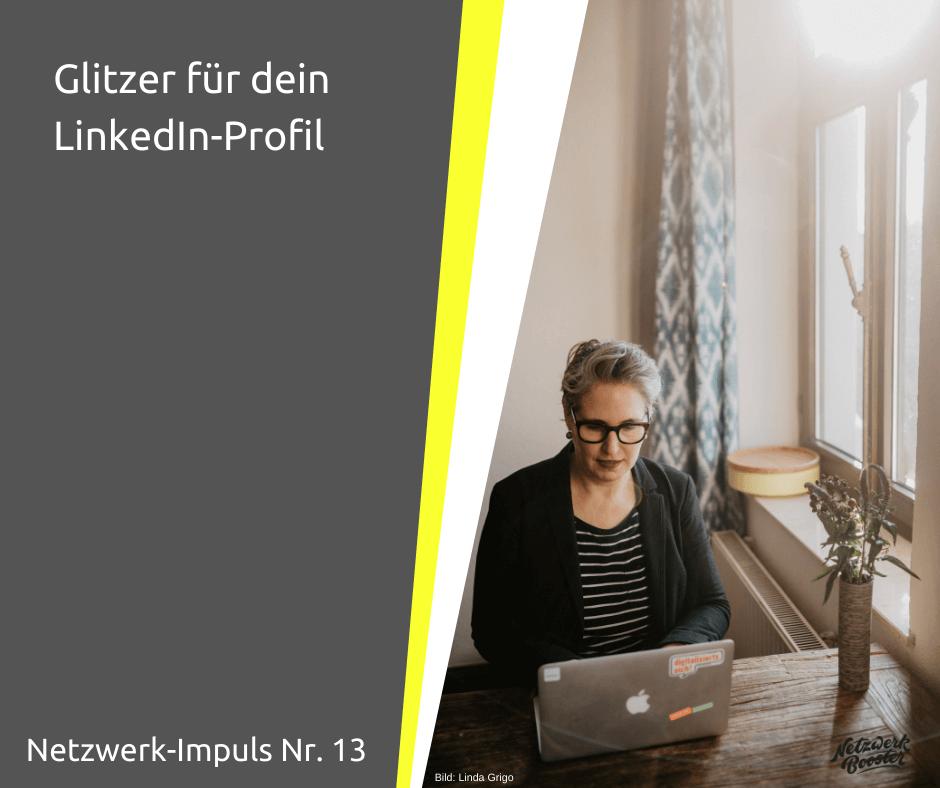 Glitzer für dein LinkedIn-Profil
