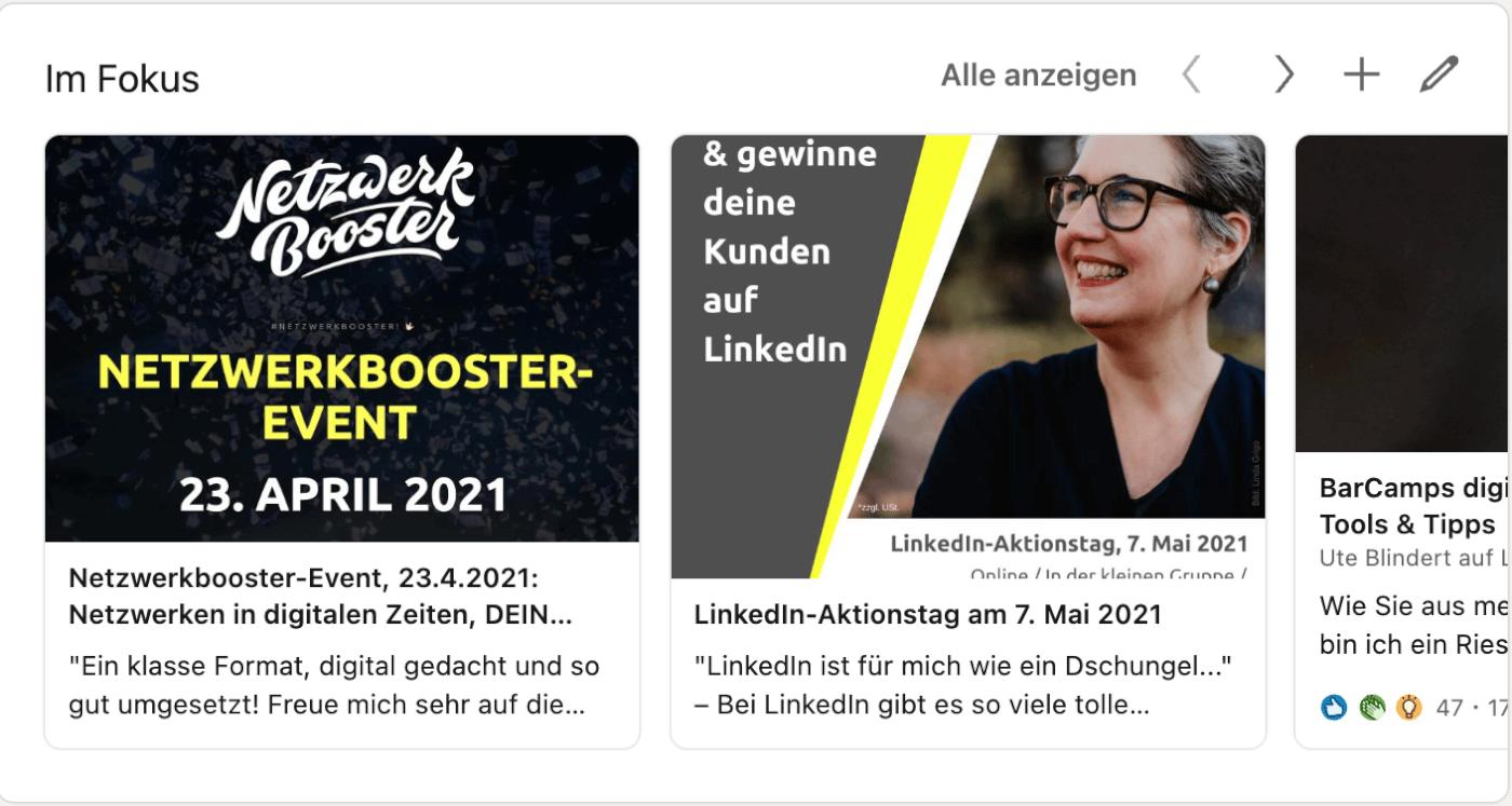 Personal Branding LinkedIn Bereich Im Fokus mit Beispielen
