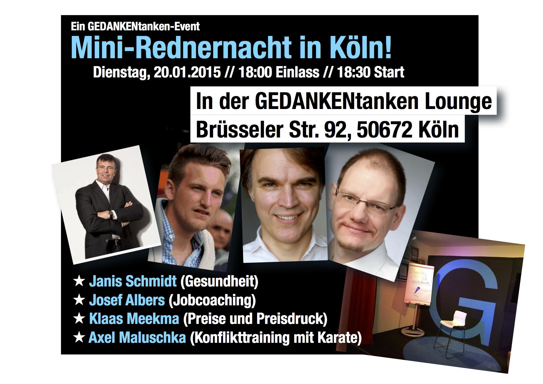 Vortrag in der GEDANKENtanken Lounge in Köln