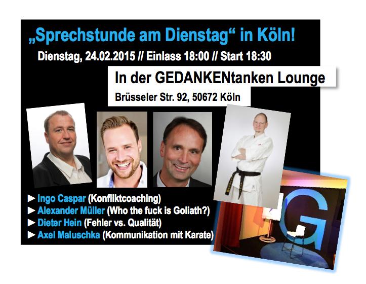 Nächster öffentlicher Vortrag in Köln