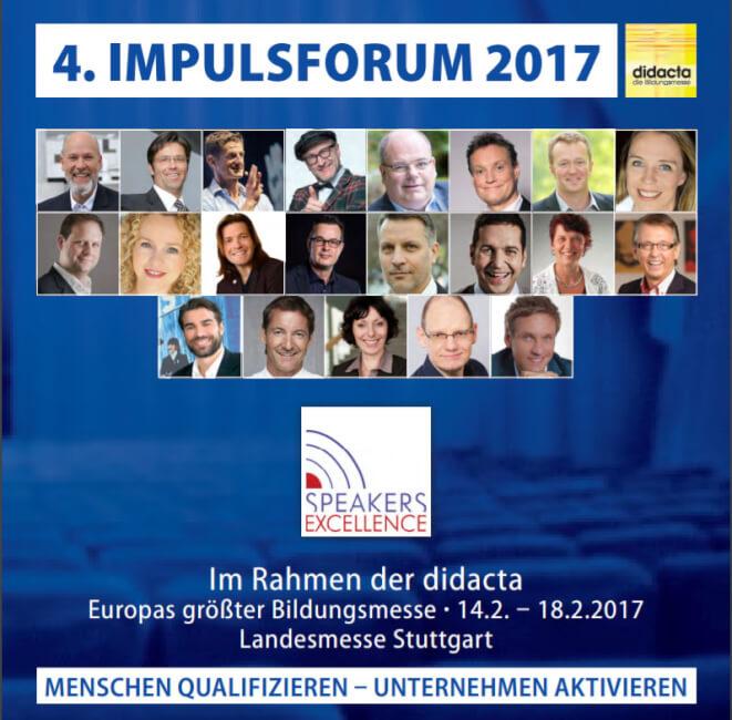Vortrag beim 4. Impulsforum 2017 didacta Stuttgart