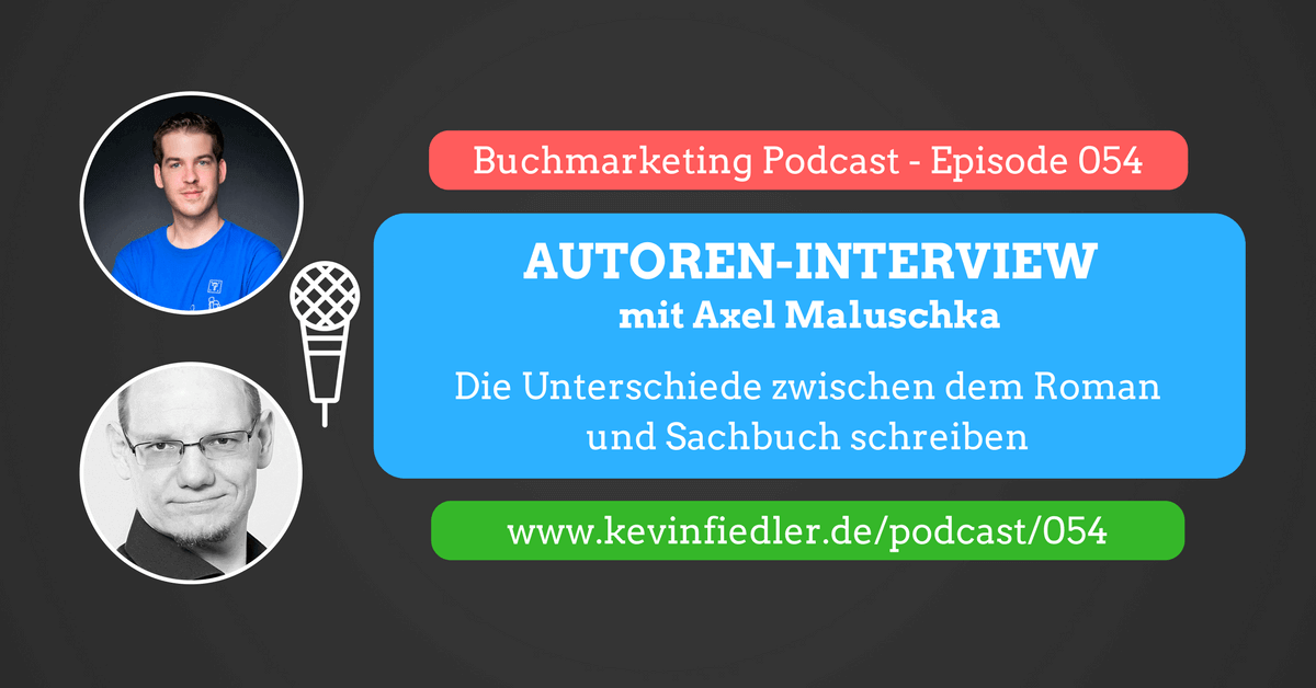 Interview bei Kevin Fiedler - Buchmarketing