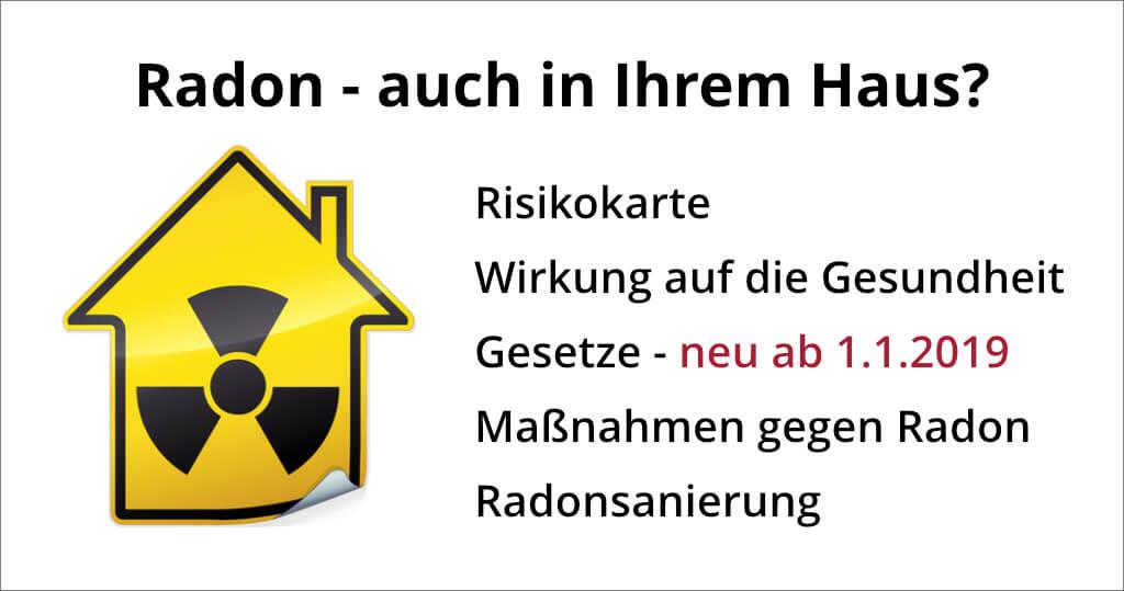 Radonmessung und -sanierung ab 01.01.2019 neues Gesetz